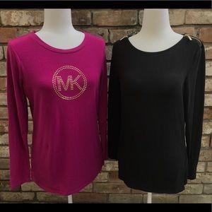 ⭐️ Two Long Sleeve Michael Kors Shirts Size M ⭐️